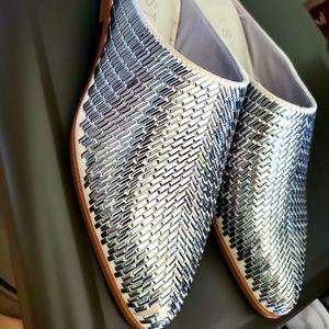 1.State 6.5 Silver Studded Slides Slip On Shoes